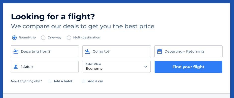 חיפוש טיסות זולות עם פרייסליין